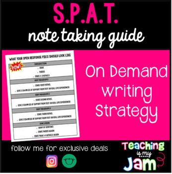 SPAT + On-Demand Note Taking Guide