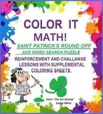 S.PATRICK'S DAY MATH! GRDS 3-5: 2 LESSONS: ROUND OFF, WORD SEARCH!