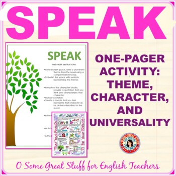 SPEAK  Creative Characterization, Theme, Symbolism, and Reflection Activity