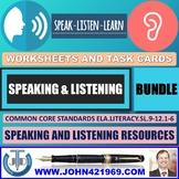 SPEAKING AND LISTENING WORKSHEETS BUNDLE