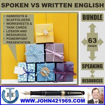 SPOKEN VS WRITTEN ENGLISH BUNDLE