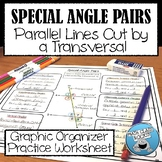 SPECIAL ANGLE PAIRS GRAPHIC ORGANIZER & PRACTICE!