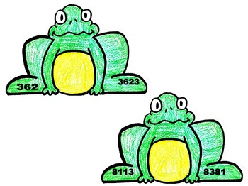 **SPECIAL BUNDLE** FROG MATH CENTERS- 3 Centers in One
