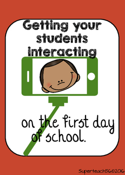 SPECIAL EDUCATION* 1st Day of School Making Friends with Selfies FREEBIE