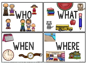 SPECIAL EDUCATION CLASSROOM Visual prompts for WH Questions FREEBIE