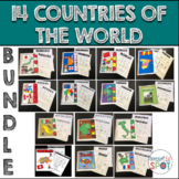 COUNTRIES AROUND THE WORLD 14  BOOK BUNDLE**Special Ed