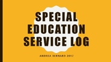 SPECIAL EDUCATION SERVICE LOG