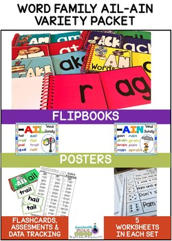 SPECIAL EDUCATION* Word Families AIL-AIN Variety Packet