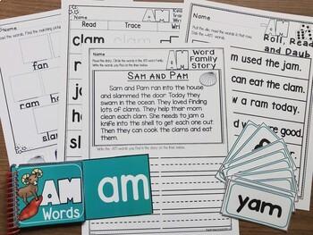 SPECIAL EDUCATION* Word Families FlipBook BUNDLE