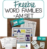 Word Family - AM FREEBIE PACKET* SPECIAL EDUCATION