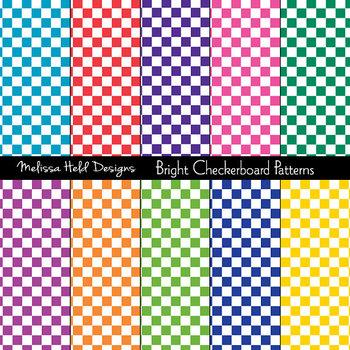 Bright Checkerboard Patterns