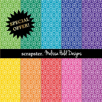 SPECIAL OFFER! Bright Flower Dot Background Patterns