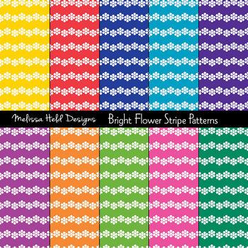 SPECIAL OFFER! Bright Flower Stripe Background Patterns