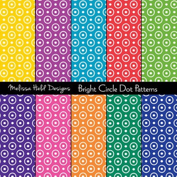 SPECIAL OFFER! Bright circle dot background patterns