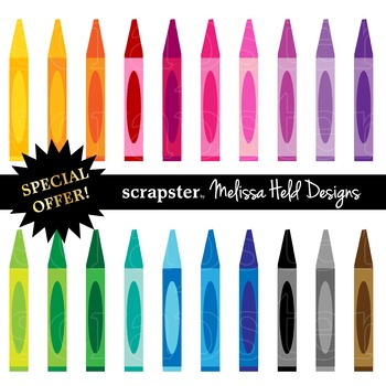 SPECIAL OFFER! Clipart: Crayons Clip Art