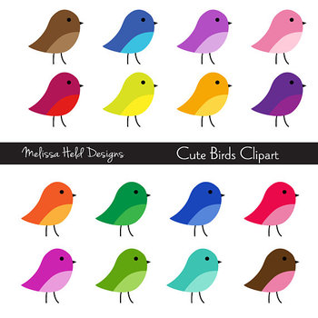 Cute Birds Clipart