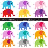 Cute Elephants Clipart