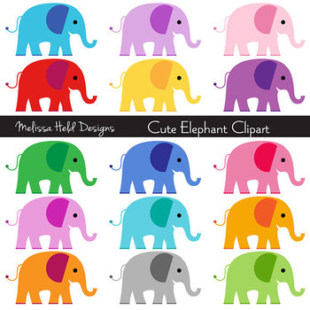 SPECIAL OFFER! Clipart: Cute Elephants Clip Art