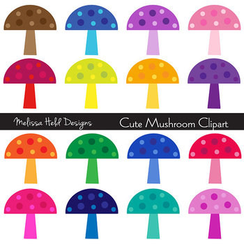 SPECIAL OFFER! Clipart: Cute Mushrooms Clip Art