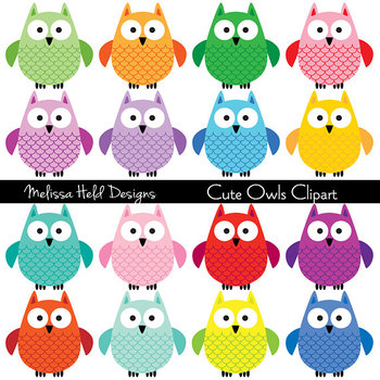 Cute Owls Clipart