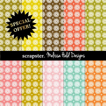 SPECIAL OFFER! Daisy Polka Dot  Background Patterns