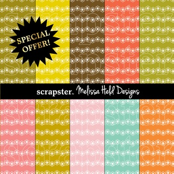 SPECIAL OFFER! Flower Stripe Background Patterns