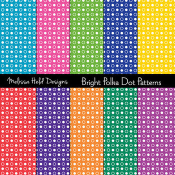 Bright Polka Dot Patterns