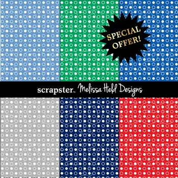 SPECIAL OFFER! Nautical dot background patterns