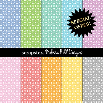 SPECIAL OFFER! Pastel dot background patterns