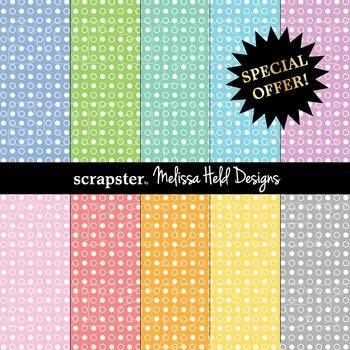 SPECIAL OFFER! Pastel dot background patterns