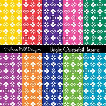 Bright Quatrefoil Patterns