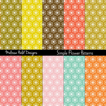 SPECIAL OFFER! Simple Flower Background Patterns
