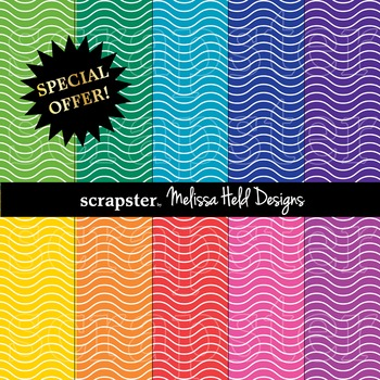 SPECIAL OFFER! Wavy Lines Background Patterns