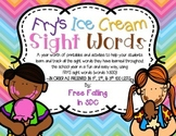 SPECIAL REQUEST- Fry's Ice Cream Sight Words-IN ORDER AS THEY APPEAR!