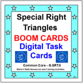 "SPECIAL RIGHT TRIANGLES:  ""DIGITAL"" BOOM CARDS (24 TASK CARDS)"