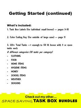 SPED/AUTISM WORK TASK BUNDLE- Life Skills Edition