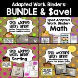 SPED Adapted Work Binder BUNDLE & Save!