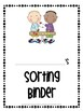 SPED Adapted Work Binder {Sorting}