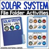SPED File Folder Activities: Solar System