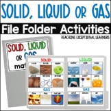 SPED File Folder Activities: Solid, Liquid or Gas