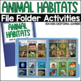 SPED File Folders: Animal Habitats