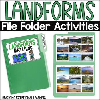 SPED File Folders: Landforms