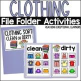 SPED Life Skills- Clothing Sort File Folder Bundle