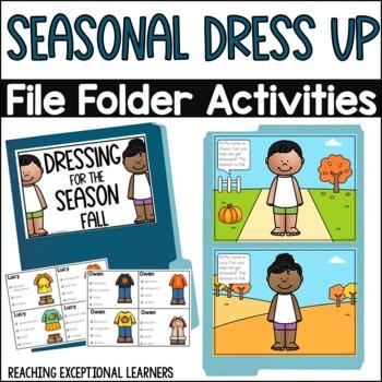 SPED Life Skills File Folder Bundle- Dressing for the Seasons
