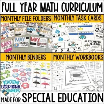 SPED Math Binder Full Year BUNDLE