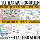 SPED Math Binder Full Year BUNDLE
