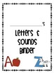 SPED Adapted Work Binder {Letters & Sounds}