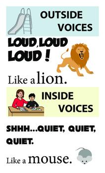 SPED Preschool Classroom Volume posters