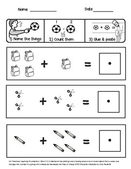 SPED Preschool Math: Adding one more to a group