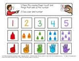 SPED Preschool One to One correspondence file folder activity